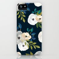 Midnight Florals - Blue … iPhone (5, 5s) Slim Case
