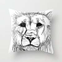 Gesture Lion Throw Pillow