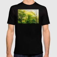 Waiting for Spring SMALL Mens Fitted Tee Black