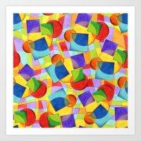 Candy Rainbow Geometric Art Print