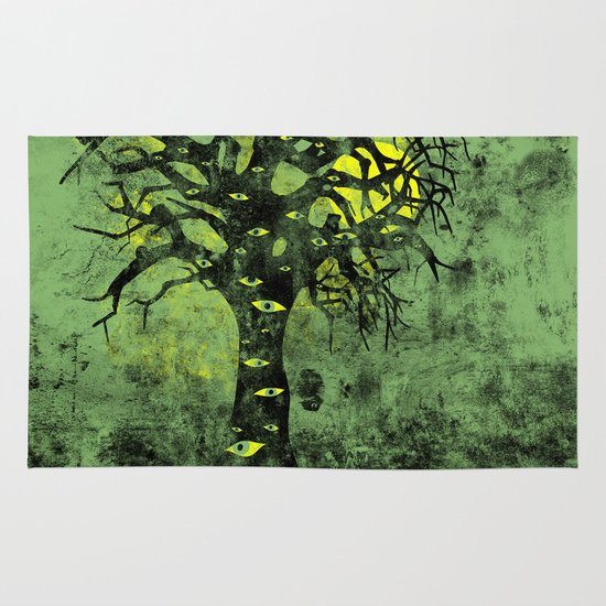 the Vision Tree (green) Area & Throw Rug