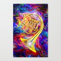 Psychedelic French horn Canvas Print