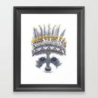 Festivale Raccoon Framed Art Print