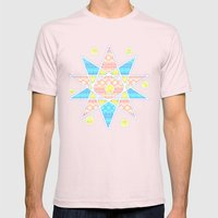 Wind rose Mens Fitted Tee Light Pink SMALL