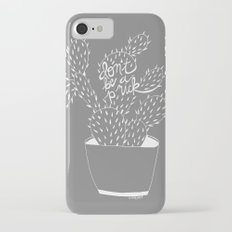 cactus in white iPhone 7 Slim Case
