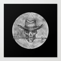 Dead Sheriff On Dark Canvas Print