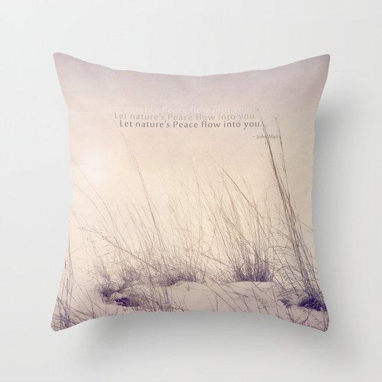 Nature's Peace Throw Pillow