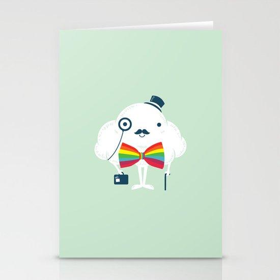 Rainbow-tie gentleman Stationery Card
