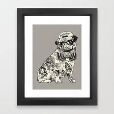 Pug Tattoo Framed Art Print