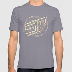Touchy Vibrations. Mens Fitted Tee Slate SMALL