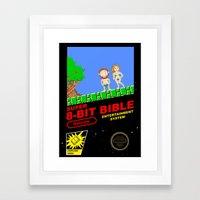 8-bit Bible Framed Art Print