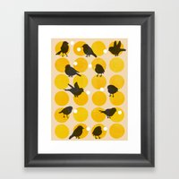 Birdsong Yellow Framed Art Print