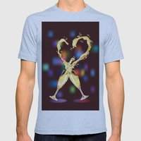 Love Glasses Mens Fitted Tee Athletic Blue SMALL