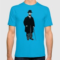 Toulouse Lautrec Mens Fitted Tee Teal SMALL