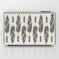Tribal Feathers-Black & Cream iPad Case