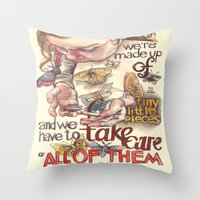 Tiny Pieces Throw Pillow