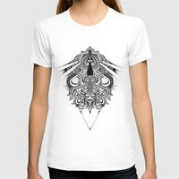 Meditation I Womens Fitted Tee White SMALL