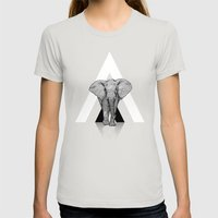 Because I Can't Forget - RED Womens Fitted Tee Silver SMALL