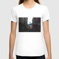Rainy Day In Chinatown  Womens Fitted Tee White SMALL