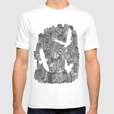 Ecotone (black & white) SMALL White Mens Fitted Tee