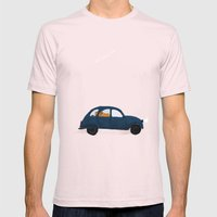 let's take a ride.. Mens Fitted Tee Light Pink SMALL