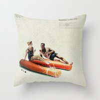 Summer in the City | Collage Throw Pillow