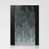 The Turquoise Outline Stationery Cards
