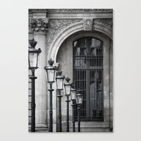 Parisian Streetlamps Canvas Print