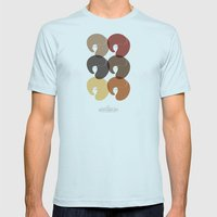 The Afro Divas Mens Fitted Tee Light Blue SMALL
