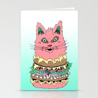 BURGERCAT Stationery Cards