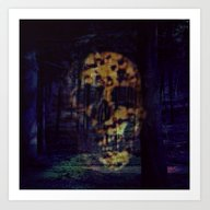 Art Print featuring Nightmare In The Forest by MehrFarbeimLeben