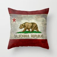 Throw Pillow featuring State Flag Of California by LonestarDesigns2020 …