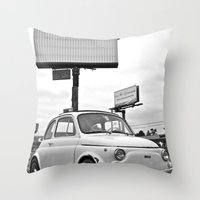 Fiat 500 Forever Throw Pillow