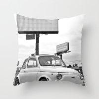 Fiat 500 Forever Throw Pillow