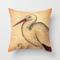Pretty Stork Throw Pillow