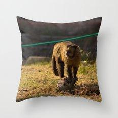 Monkey Business I Throw Pillow