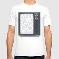 Go Out Side Mens Fitted Tee White SMALL
