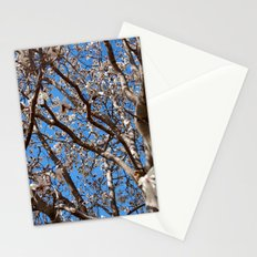 Lying under the white tree tops Stationery Cards