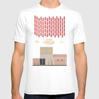Mon Oncle - Jacques Tati Movie Poster Mens Fitted Tee White SMALL