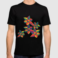 Hexagon Explosion Mens Fitted Tee Black SMALL
