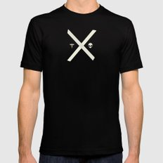 Mulder and Scully Mens Fitted Tee SMALL Black