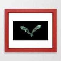 Chiroptera 02, bat, murciélago 02 Framed Art Print