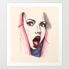 Wow Art Print