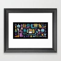 MONSTERS Framed Art Print