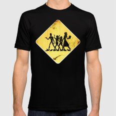 Hollowmentary Crossing Mens Fitted Tee SMALL Black