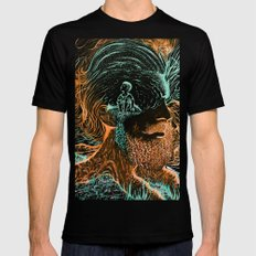 Glow Worms Mens Fitted Tee Black SMALL