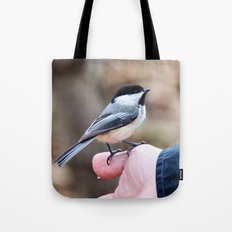 lets feed the birds Tote Bag