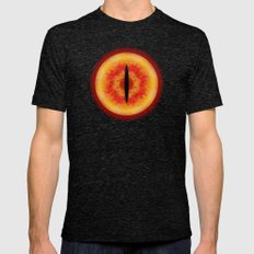 THE EYE OF SAURON Mens Fitted Tee Tri-Black SMALL