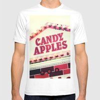 Candy Apples Mens Fitted Tee White SMALL