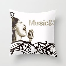 Music&Soul Throw Pillow